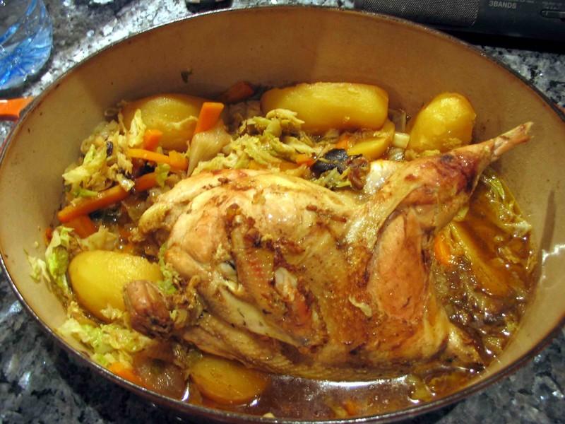 Faisan au chou lacath au four et au moulin - Cuisiner une poule faisane ...