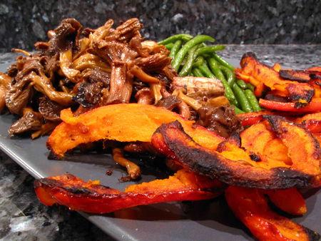 Lamelles de potimarron grill es lacath au four et au moulin - Graines de potimarron grillees a la poele ...