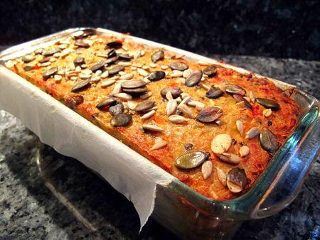 Cake Lentille Corail Carotte