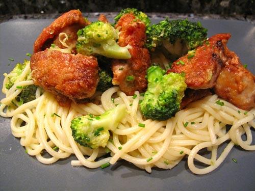 Foie de lotte grill spaghetti aux brocolis sauce citron - Cuisiner le foie de lotte ...